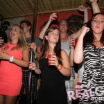 A group of party girls dancing on stage in Ayia Napa