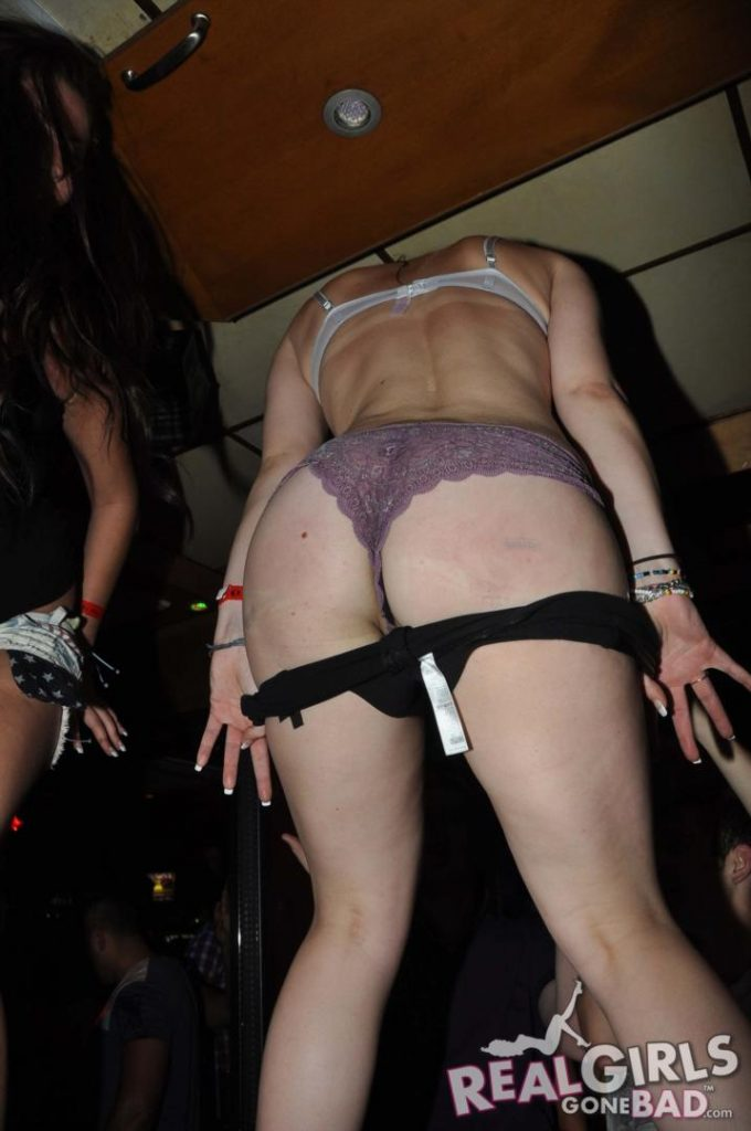 Real girls strip on stage