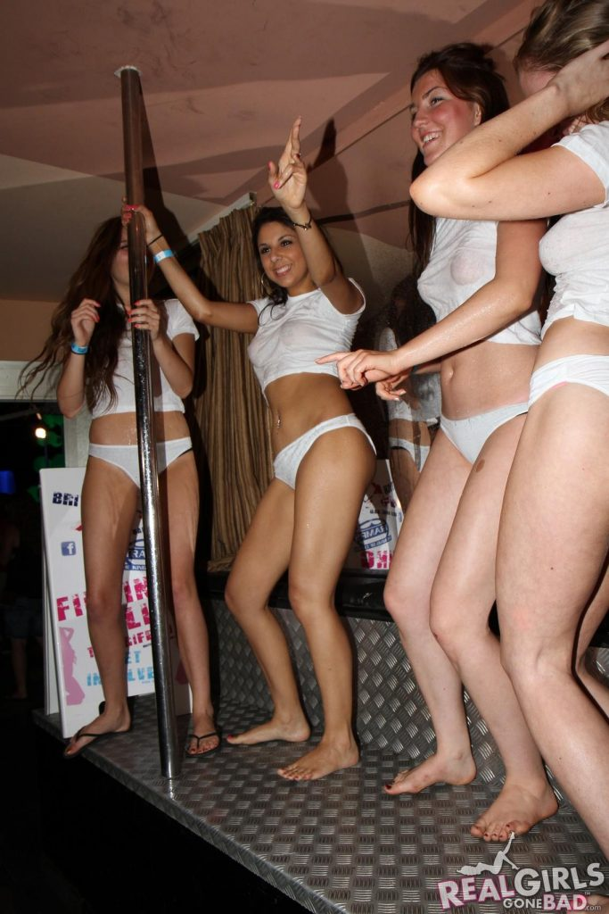 Real Party Girls Gone Bad - Wet t-shirt competition